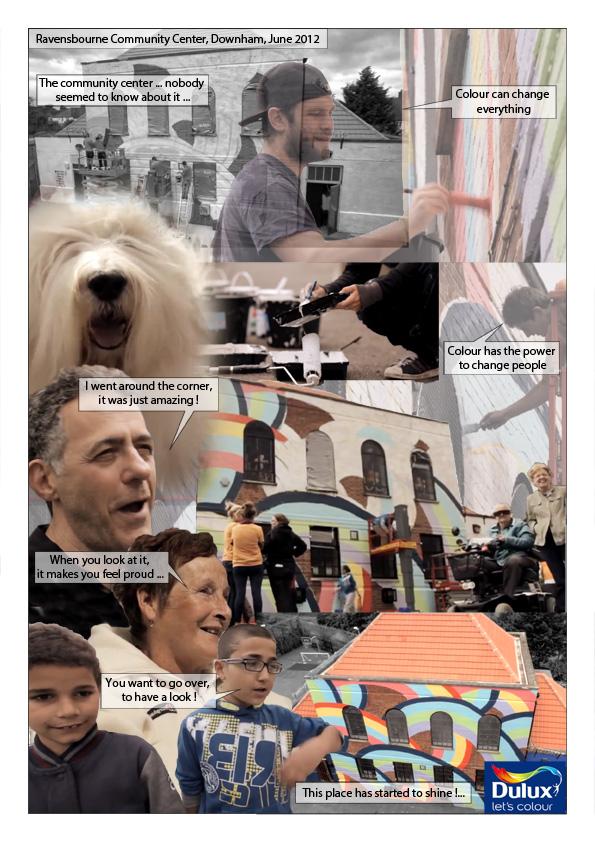 Exemple de Storyshow® à partir des images d'un projet communautaire initié par la marque de peinture Dulux