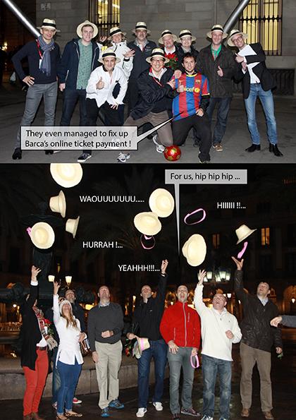 Extrait du reportage narratif d'un rallye par équipe dans Barcelone lors d'une convention des ventes.