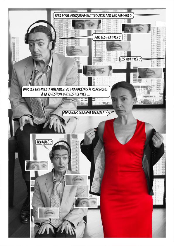 Extrait du Storyshow® Offre d'emploi, mis en image à partir d'un texte de Harold Pinter.